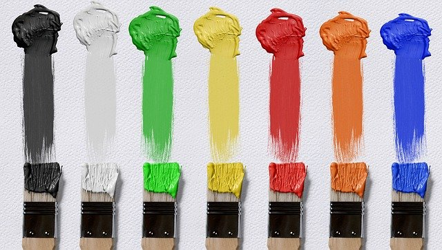 A group of different colored brush