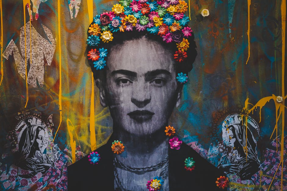 A painting of Frida Kahlo